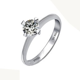 $enCountryForm.capitalKeyWord Canada - 0.8CT 4Prongs Wholesales 925 Silver SONA Round Simulate Diamond Ring Engagement Jewelry Women Sterling Silver 18K White Gold S923