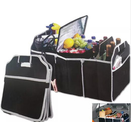 Chinese  Foldable Car Storage Boxs Bins Trunk Organizer Toys Food Stuff Storage Container Bags Auto Interior Accessories Case Can FBA Ship manufacturers