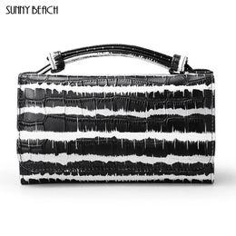 $enCountryForm.capitalKeyWord UK - SUNNY BEACH 2018 new fashion women Day Clutches colorful stripes ladies' purses Genuine leather women bag Chains bag