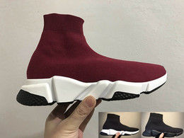HigH cuts sHoes boot online shopping - 2018 High Quality Black Sock Booties Sports Running Shoes Training Sneakers Shoes Luxury Sock Shoes Casual Shoe Sock Race boot Runners