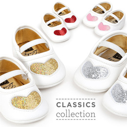 $enCountryForm.capitalKeyWord NZ - 8 Color Baby Shoes Sequins Love Multi-color soft sole shoes Non-slip First Walker Shoes free shipping