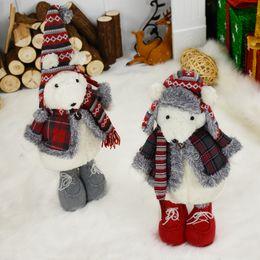 $enCountryForm.capitalKeyWord Australia - Christmas Decoration for Home Cute Mouse Dolls Xmas Cabinet Display Decoration Christmas Tree Ornament Xmas Gift Toys for Kids