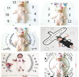 Criativo Impresso Milepost Cobertores Dias Semanas Meses Anos Número Padrão Cobertor Do Bebê Para O Fundo Da Foto Carpet Soft 19fda BB