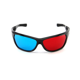 Anaglyph Dvd Australia - New Black Frame Universal 3D Plastic Glasses Oculos Red Blue Cyan 3D Glass Anaglyph Movie Game DVD Vision Cinema