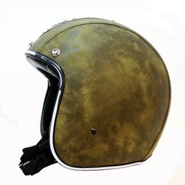 $enCountryForm.capitalKeyWord Australia - Vintage motorcycle helmet open face helmet DOT approved half Retro moto casco capacete motociclistas capacete 2018 NEW