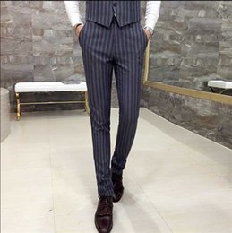 $enCountryForm.capitalKeyWord NZ - New Fashion Hot Sale Brand 2016 men's casual high quality cotton suit trouser male slim korea style easy care striped suit pants