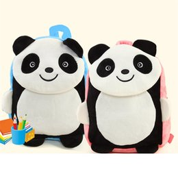$enCountryForm.capitalKeyWord Canada - Mini Cute Baby Panda Plush Backpack kids 3D animal bag for 1-6 year Children Mochila Teenager School bag Student Girl Boy gift