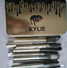 Wholesale Makeup Brushes Professional Brush Sets Brands Make Up Foundation Powder Beauty Tools Cosmetic Brush Kits with Retail Iron Box a865