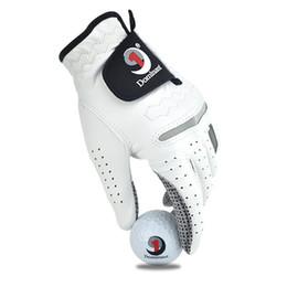 Men Gloves Leather Sheepskin Australia - 30PCS Golf Gloves Men's Left Hand Soft Breathable Pure Sheepskin With Anti-slip Granules Golf Gloves Golf Men