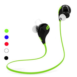 Discount bluetooth qy7 - QY7 Portable Neckband Noise Cancelling Stereo Headset Sport In Ear Earphone Earbuds Microphone Running wireless bluetoot