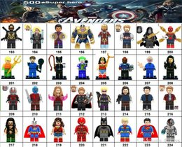 Marvel Blocks Figure NZ - Wholsale Super hero Mini Figures Marvel Avengers DC Justice League Wonder woman Deadpool Batman Harley Quinn building blocks kids gifts