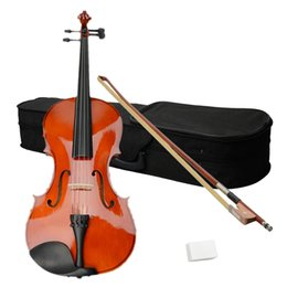 Chinese  High Quality 16 Inch Acoustic Viola include Case Bow Rosin Nature Color for Student Musical Instruments manufacturers