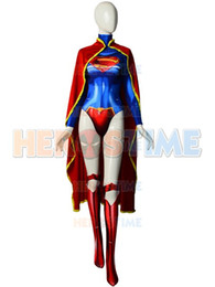 supergirl cosplay costumes NZ - Newest 52 Supergirl Costume 3D Printing Spandex Supergirl Superhero Cosplay Costume With shawl Custom Made
