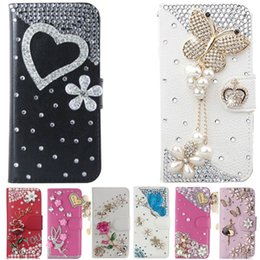 $enCountryForm.capitalKeyWord NZ - wholesale Cover For LG K10 2018 , Diamond Rhinestone Bling PU Leather Flip Cover Wallet Case Protective