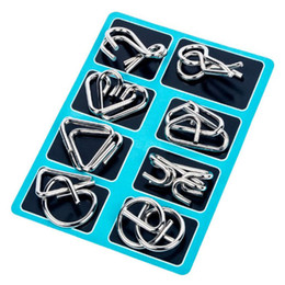 $enCountryForm.capitalKeyWord Australia - Educational Metal Magic Rings Buckle Chain 8 Sets Puzzle IQ Baffling Brain Teaser Learning Toy Best Gift