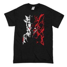 $enCountryForm.capitalKeyWord UK - Naruto Shippūden Demon Fox Two Face Anime T-Shirt Cartoon t shirt men Unisex New Fashion tshirt
