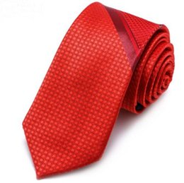 Matching Tie UK - Men & Women Trend Polyester Silk Tie 6cm Fashion Casual Wedding Groom Red Business Casual Color Matching High-end Gentleman Tie