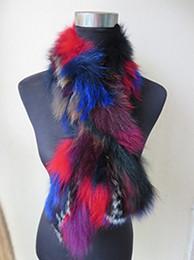 $enCountryForm.capitalKeyWord Australia - Winter Warm Real Fox fur Neckerchief Scarf  Colorful Knitted Soft Fashion Women