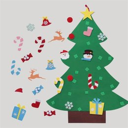 happy christmas tree handmade diy sock santa claus candy felt gift fun festival decorations classic home decor hot sale 22fq ww