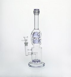 Recycler Oil Rigs Cheap NZ - dab rig Glass Bongs With Purple perc arm tree feb egg two fuction glass bong recycler oil rigs in stock cheap smoking pipes