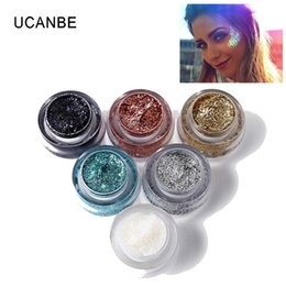 $enCountryForm.capitalKeyWord Australia - UCANBE Glitter Eyeshadow Gel Highlighter Makeup Diamond Eye Shadow Metallic Sparkling Cream Powder Festival Face Body Hair Paint
