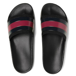 Chinese  Fashion leather men women striped sandals causal Non-slip summer huaraches slippers flip flops slipper BEST QUALITY SIZE 4-11 manufacturers