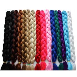 hair braid blonde 2019 - Rockstar 30colors 41inches Synthetic Ombre Jumbo Braids Hair 165g Pack Kanekalon Blonde Crochet Braiding Hair Extensions