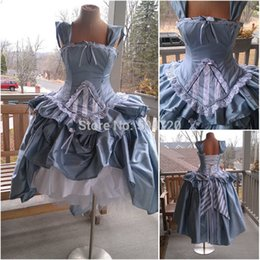 Civil War Costumes Halloween Australia - R-354 Vintage costume Lolita Dress Civil War Southern Belle Ball Halloween dresses