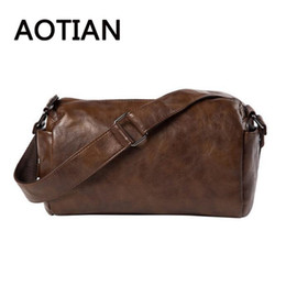2017 Hot Sale AOTIAN Soft Men Shoulder Bags Leisure Men Bags Designer Crossbody  Leather Phone Bolsa Feminina Vintage 92f868a6c6