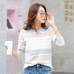 $enCountryForm.capitalKeyWord NZ - New 2017 Autumn Female T-shirt Long Sleeve Striped Women's T-shirt Cozy Cotton T Shirt Winter Tops Tees Brand Fashion Camisetas
