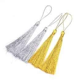 Chinese deCorative knots online shopping - 900PCs CM Gold Silver Polyester Tassel Fringe Silk Thread Long Tassels Decorative For Jewelry DIY Chinese Knot Curtains Clothes