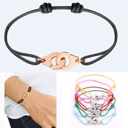 bracelet famous brands NZ - Wholesale Price France Famous Brand Jewelry Dinh Van Bracelet For Women Fashion Jewelry 316L Stainless Steel Rope Handcuff Bracelet Menottes