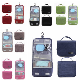 0f56c0e2ecd6 5colors Foldable Hook Wash Bag storage bag Travel Portable Cosmetic  Waterproof Makeup Cases Hanging Toiletry Wash Organizer FFA817 100pcs