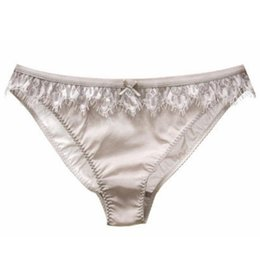 ef0df2c2eb Sexy Panty Silk UK - Women s Sexy Lace Real Silk Panties Panty Briefs  Underwear Intimates Panties