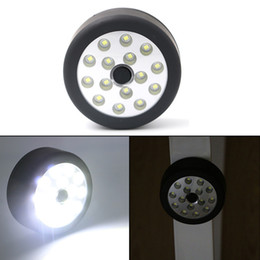 Multifunction Torch Australia - Multifunction 15 LED Round Flashlight Torch Outdoor Handy Lamp Portable Work Camp Light Tent Hang Lamp with Magnet Hook