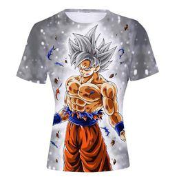 f88906d37b Dragon Ball Z Naruto 4th Hokage camisetas Verano para hombre 3D Print Super  Saiyan Son Goku Black Zamasu Vegeta Vegetto camiseta Tee Tops