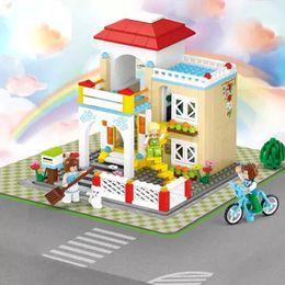 sluban toys 2019 - Sluban 2017 New 380Pcs Princess Series Pink Dream Villa Sweet Home DIY Educational Toys minis Free Shipping gift for chi