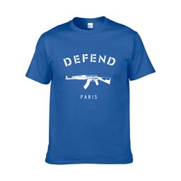 taser guns 2019 - 2018 NEW Wholesale-New Arrival DEFEND PARIS T-shirt Hiphop Defend T Shirt TShirt With Short Sleeve Top Tees Mens Clothin
