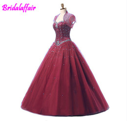$enCountryForm.capitalKeyWord UK - 2019 Blue Ball Gown Prom Dress Quinceanera Dress With Jacket Beads Corset Fitted Fare 16 Sweet Girls Party Wear aqua quinceanera dresses