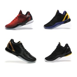 Cheap Mens Kobe 6 VI basketball shoes for sale Black Red Bred Gold Purple KB  Generation low cut sneakers boots tennis with box ab9e5efcf