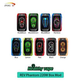 Discount advance box - 100% original REV Phantom 220W TC Box Mod Advanced REV Chipset 2.8 inch 9 colors