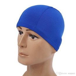... Soft Elastic Adultos Crianças Tecido de Proteção de Cabelo Touca de  Natação Piscina Surf Mergulho Touca de Banho Chapéus Chapéus de Alta  Qualidade fdbf0f449e7