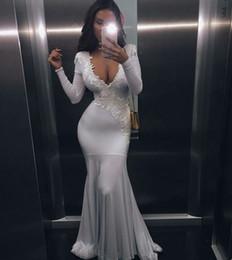 $enCountryForm.capitalKeyWord NZ - 2018 sexy cheap plus size vestido de festa special occasion dresses white long sleeves prom dress mermaid