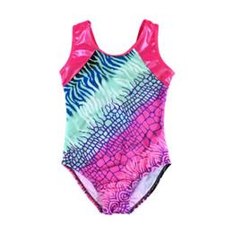 0b63acffc7cd Children Girls Sleeveless Gymnastics Leotards Ballet Printed Kids Body Suit  Ballet Dance Practice Clothes