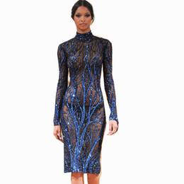 $enCountryForm.capitalKeyWord UK - Classical Blue Tree Elegant Embroidery Sequins Gauze Mesh Lace Fabric glitter shining dress vestidos new arrival sequined dresses