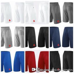 2018 homens Boston Red Sox Shorts branco cinza preto azul marinho vermelho desempenho de franquia Shorts tamanho S M XL XXL XXXL calções de beisebol Jer venda por atacado