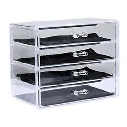 Acrylic Makeup Storage Organizer Australia - Cysincos Transparent Acrylic Storage Drawer Makeup Organizer Table Jewelry Cosmetic Storage Box Home Sundries Holders