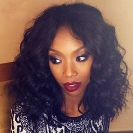Discount body wave wig cap hairstyles - Human Hair Wigs Full Lace Wigs Popular Big Body Wave Brazilian Malaysian Medium Size Swiss Lace Cap Lace Front Wigs