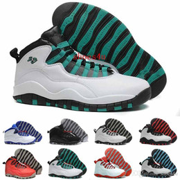 Chinese  2017 Men Basketball Shoes Sneakers 10 Paris NYC CHI Rio LA Hornets City Pack Vivid Pink 10s X Sports Shoes US 8.0-13 With Box manufacturers