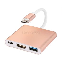 USB 3.1 Тип C К HDMI-адаптеру 1080P 4K HDMI-конвертер Кабель для зарядки для MacBook Table К телевизору